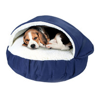Luxury Cozy Cave Covered Dog Bed