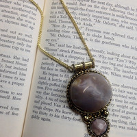 Antique Style Stone Necklace