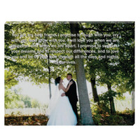24x36 Wedding Photo Art- words on pictures, photo to canvsa, lyrics on canvas, personalized canvas, vows letter paper, husband wife canvas