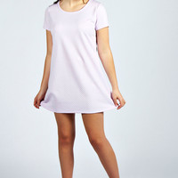 Jane Quilted Fabic T-Shirt Dress