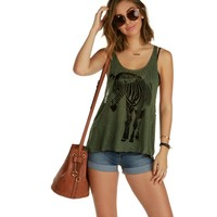 Sale-olive Zebra Tank Top