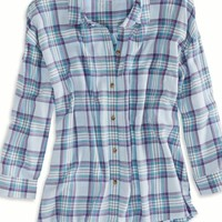 's Cropped Button Down Shirt