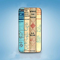 winnie the pooh vintage book customized for iphone 4/4s/5/5s/5c ,samsung galaxy s3/s4/s5 and ipod 4/5 cases