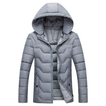 The Banff Geo Puffer Coat Grey