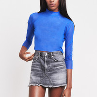 Ritual Sheet Mock Neck Crop Top