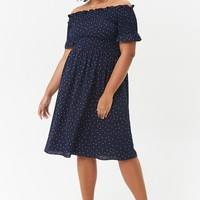 Plus Size Polka Dot Dress