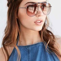 Keaton Brow Bar Aviator Sunglasses