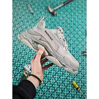 Balenciaga Triple S Clear Sole Trainers Sneakers Grey With Air Bubble