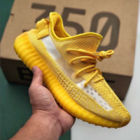 Yellow Causal Classic Adidas Yeezy 350 Boost V2 Sport Sneakers Shoes