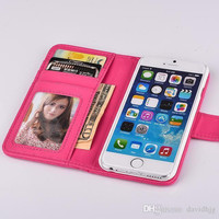 For iPhone 6 Case Luxury Leather Lady Cute Wallet Camelliae For Apple iPhone 4.7 inch Smart Cover Girl Friend Gift