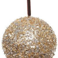Sequin Glitter Ball Christmas Ornament, Gold/Silver