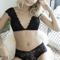 Soft Lace Bralette and Panty Set
