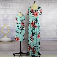 Matching Mother Daughter Ankle-length Dress
