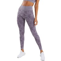 Hot fashion seamless high waist stretch yoga pants women feel hip web celebrity camouflage tights nine minutes