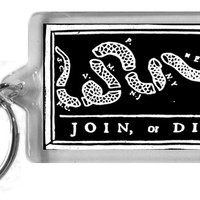 Join or Die Keychain