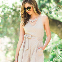 Nikki Taupe Romper by Lush