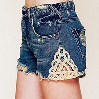 Free People  Battenberg Crochet Cut Off at Free People Clothing Boutique
