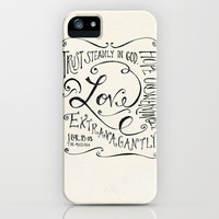 Love Extravagantly scripture print iPhone Case by Kristen Ramsey   Society6