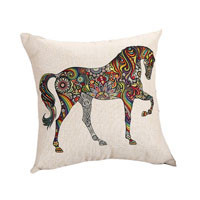 Bohemian Style Animal Pattern Pillow Case Chair Seat and Waist Square Cotton Linen Pillow Cover Home Living