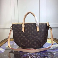 LV Louis Vuitton WOMEN MONOGRAM LEATHER HANDBAG SHOULDER BAG