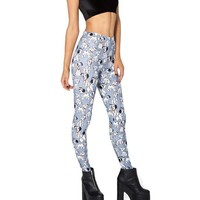 101 Dalmatians Puppies All Over Print Stretch Leggings for Women in Blue | DOTOLY