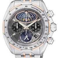 Citizen Signature Mens Moon Phase Flyback Chronograph - Two-Tone - Bracelet