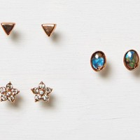 AEO Women's Spring Earring 3-pack (Rose Gold)