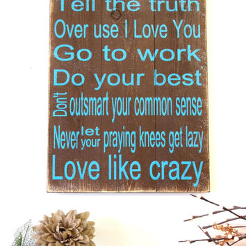 Love Like Crazy Wood Sign Lee Brice Pallet Wood Sign Country Western Wedding Wood Wall Art Brown and Turquoise Decor Rustic Wood Sign