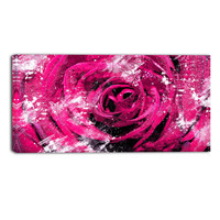 Pink Rose Perfect View Floral Canvas Wall Art Print