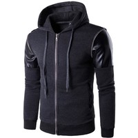 Zippers Hot Sale Men's Fashion Design Decoration Stylish Hoodies [10669404291]