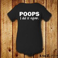 Poops I Did It Again, Funny Baby Clothes, Unique Baby Shower Gift, Gender Neutral Baby, MORE COLOR OPTIONS