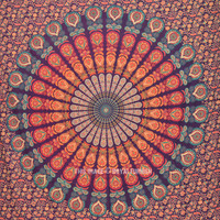 Colorful Bohemian Mandala Wall Tapestry, Hippie Wall Hanging Bedspread on RoyalFurnish.com