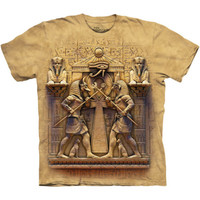IMMORTAL COMBAT Mountain Ancient Egyptian Mythology Anubis Horus T-Shirt S-3XL