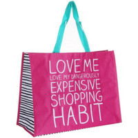 Happy Jackson Love Me etc. - Medium Reusable Shopping Bags, Recycled Bags,