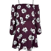 River Island Womens Red floral bardot slip dress