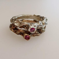 Meryl Lefkovich- Ancient Ring with Pink Tourmaline