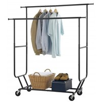Ktaxon Commercial Heavy Duty Clothing Garment Rack Rolling Adjustable Clothes Hanger - Walmart.com