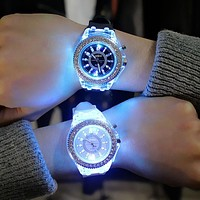 Watches 7 color Led Light Wrist Watch