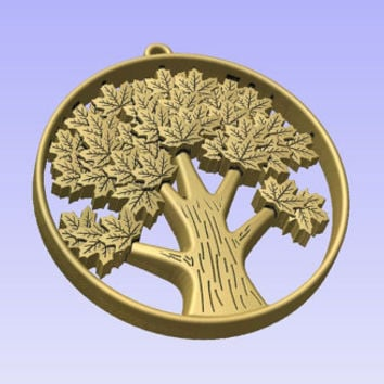 Stl 3d models of TREE PENDANT for cnc carving vectric aspire cut3d artcam 3d printer