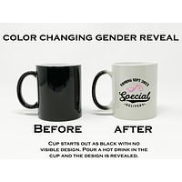 Special Delivery Baby Announcement Color Changing Coffee Cup, 11 oz Ceramic