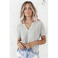 Lazy Days Gray Tunic Top
