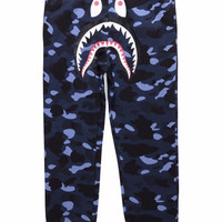 BAPE 1st Camo Shark Sweatpants Blue