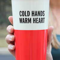 Kate Spade Thermal Mug - Cold Hands Warm Heart
