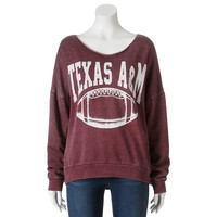 Texas A&M Aggies Burnout Football Sweatshirt - Juniors