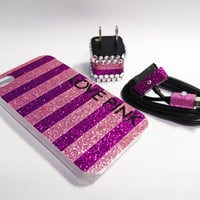 LOVE PINK iPhone Case USB Charger and Cord by VanityCases on Etsy