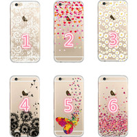 Dandelion cherry blossoms butterfly mobile phone case for iphone 5 5s SE 6 6s 6 plus 6s plus + Nice gift box 072701