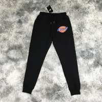 Dickies logo Printed men's stretch leggings sports pants sports fitness pants trousers