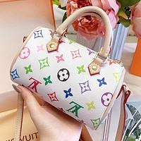 LV Louis Vuitton Women Shopping Bag Leather Mini Handbag Tote Shoulder Bag Crossbody Satchel