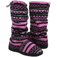 MLB New York Yankees Ladies Jacquard Knit Boots - Pink/Black (5/6)