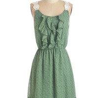 ModCloth Festival Mid-length Tank top (2 thick straps) A-line Beneath the Fluttering Leaves Dress